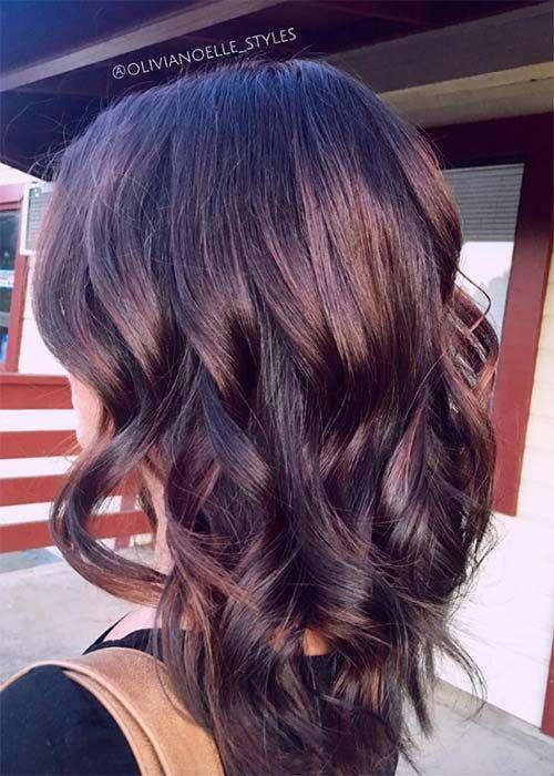 Coloration cheveux chocolat mauve