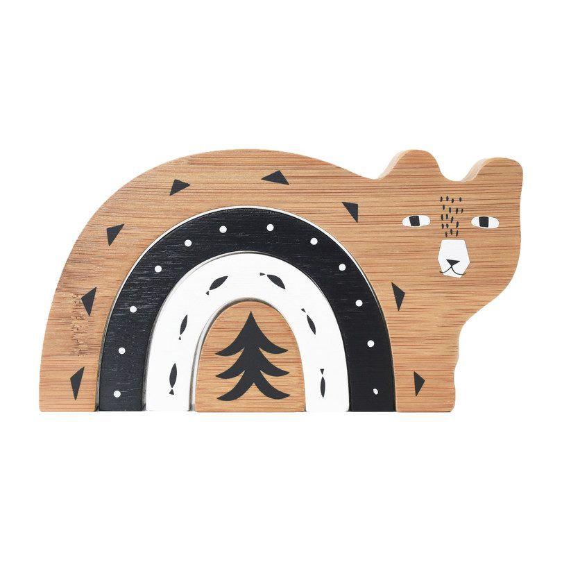 Bamboo Nesting, Bear - Play Learning Blocks, Sorters & Stackers - Maisonette