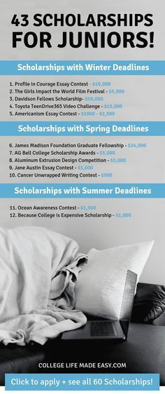 Scholarships For Juniors The Most Up To Date List Scholarships