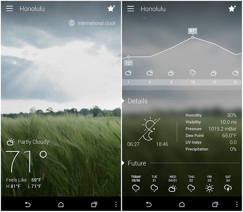 androidpit go weather screenshot app Application