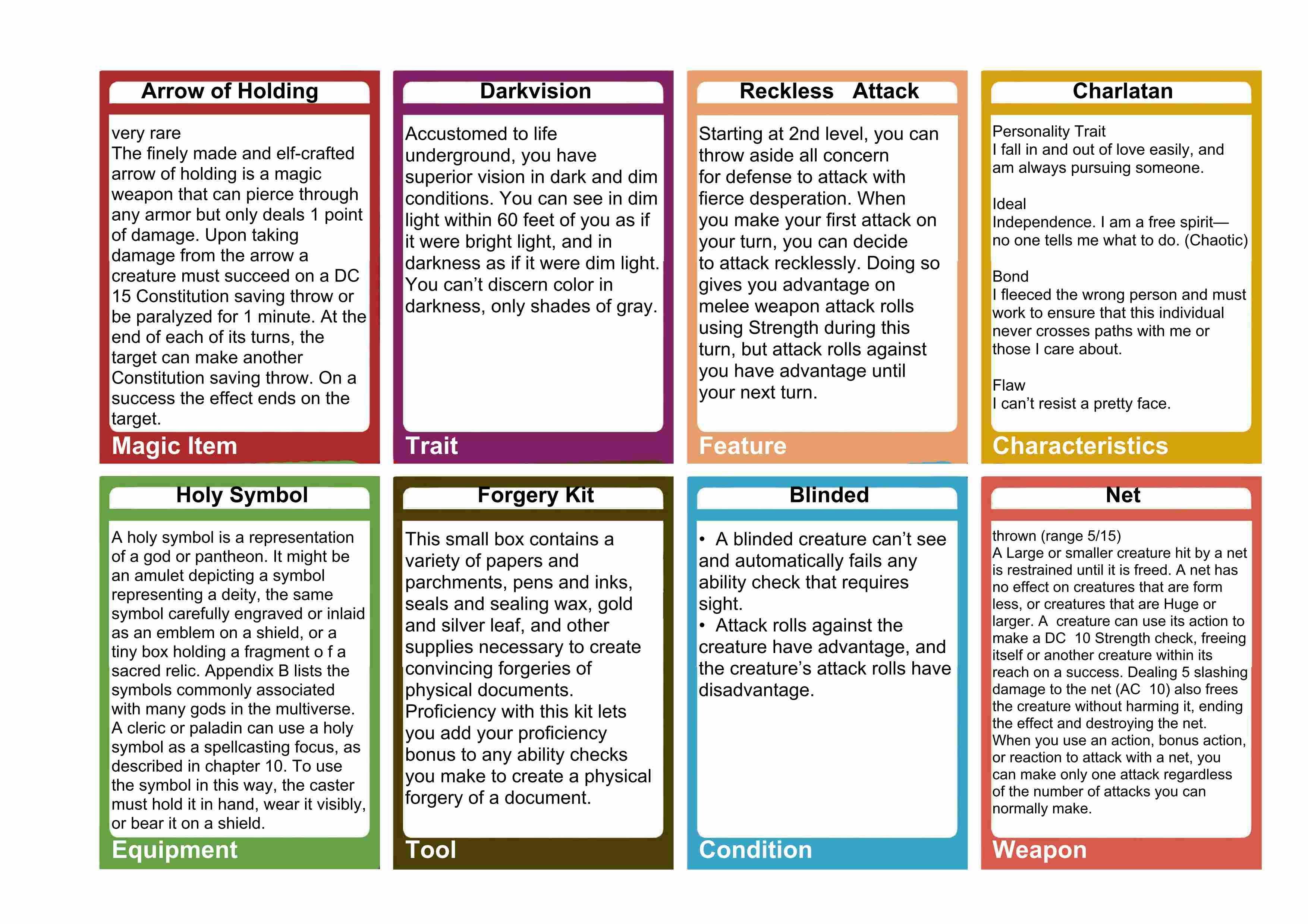 D D Spell Card Templates 1 Templates Example Templates Example