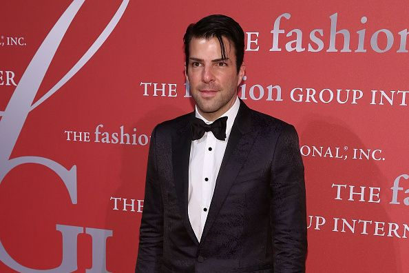 Actor Zachary Quinto attends Fashion Group International's 2015 Night of Stars The Revolutionaries at Cipriani Wall Street on October 22 2015 in New...
