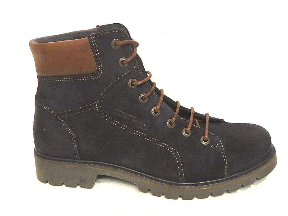 Camel Active Schuhe Stiefel Ranger Boots Outback blau antik
