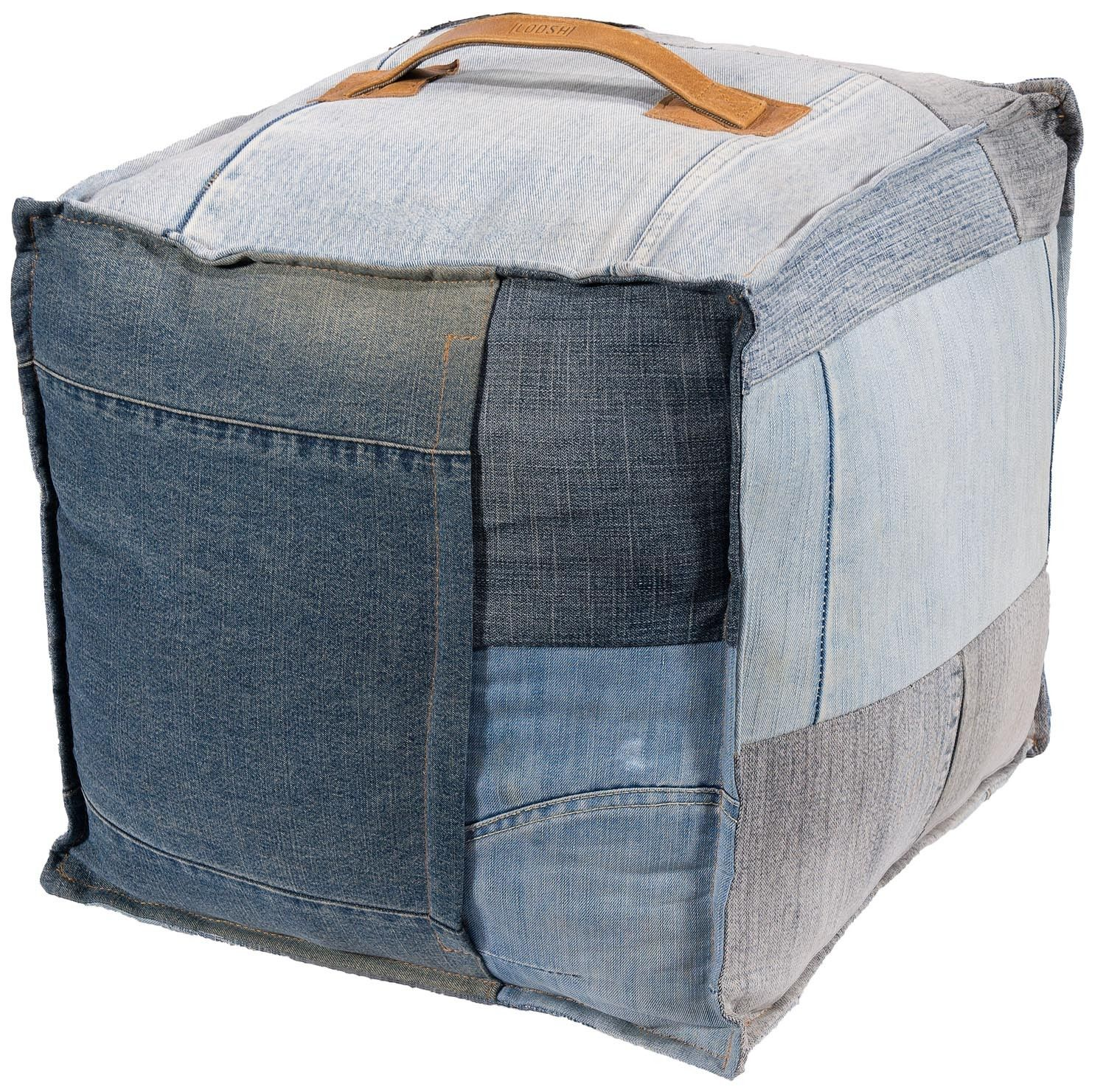 RECYCLED DENIM POUF/POEF  Start collecting Thor's jeans now :p