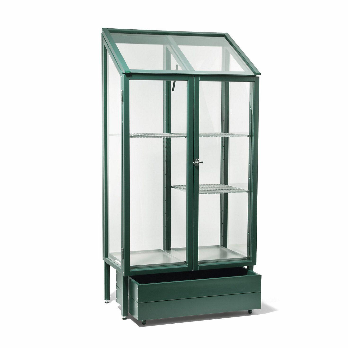 Balkongewächshaus Glas und Kiefernholz