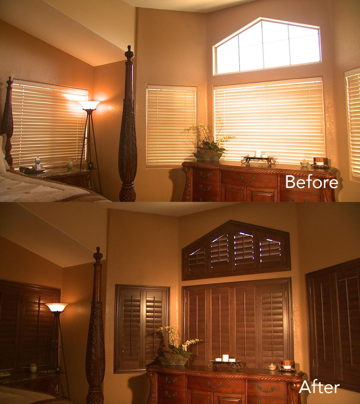 Notice how the ovation shutters compliment the wood accents in the