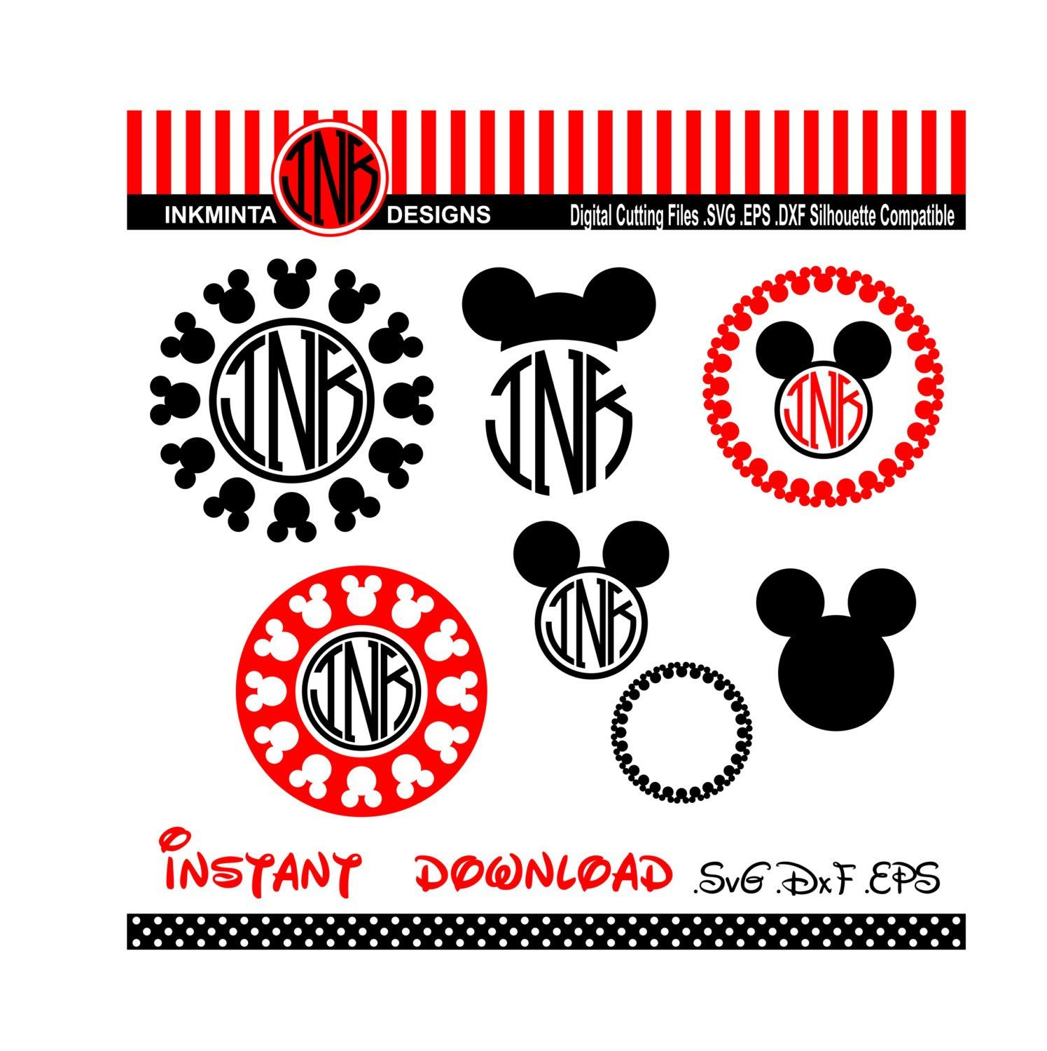 Free Svg Downloads For Cricut Mickey mouse monogram, Diy