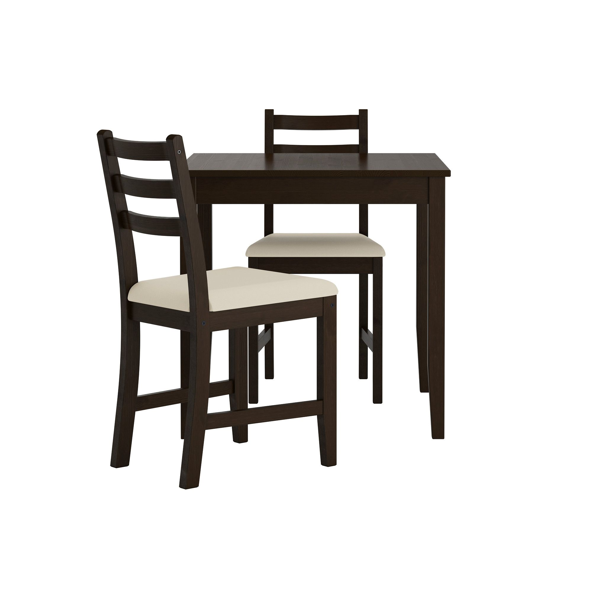 Lerhamn Table And 2 Chairs Black Brown Vittaryd Beige Inspiring