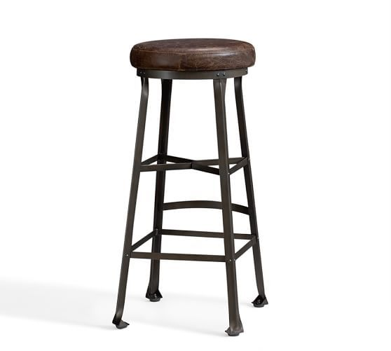 Decker Leather Seat Bar Counter Stools Counter Stools Stool
