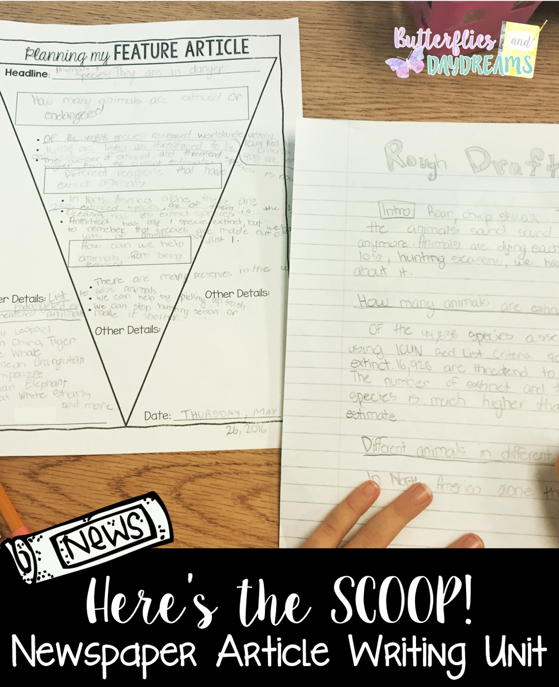 Newspaper Article Writing Unit HereS The Scoop  Anchor Charts
