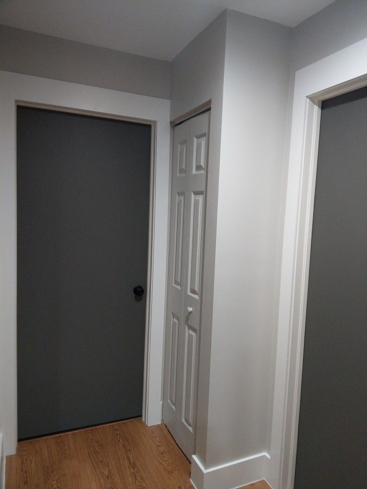 Painting Closet Door The Same Color As The Wall To Make It Blend In
