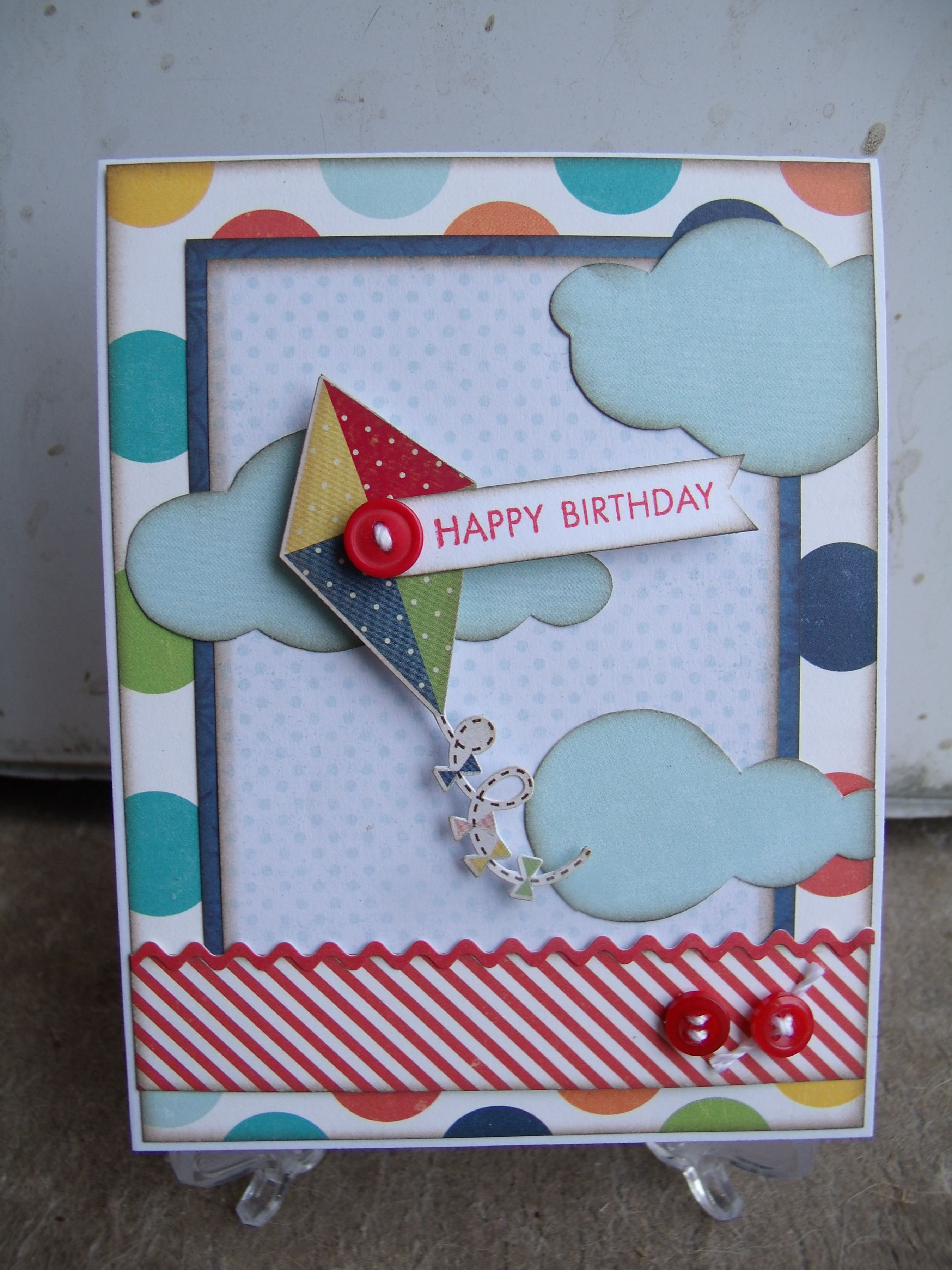 Happy Birthday - Scrapbook.com Give this framing of a simple, plain ...