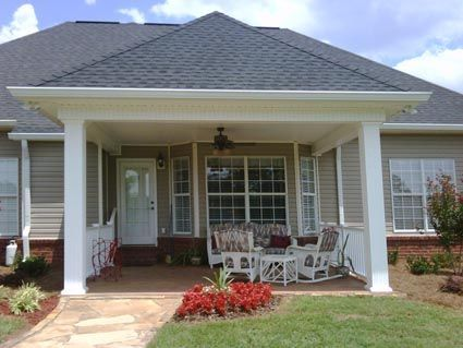 Back Porch Addition Hip Roof Hip Roof Example Patio Pinterest