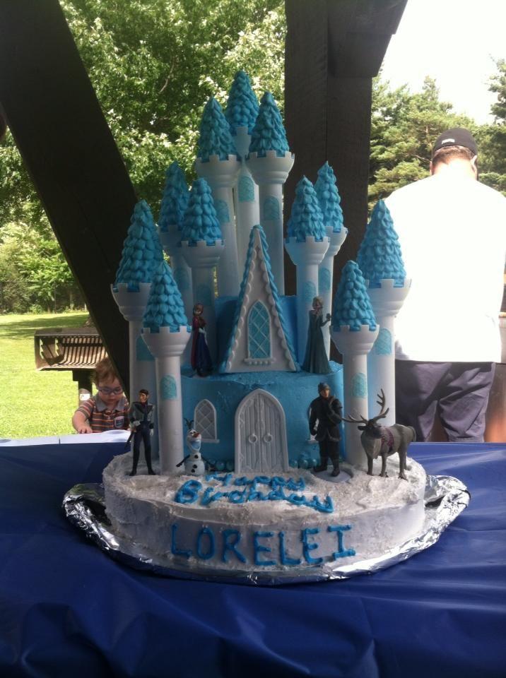 Frozen Castle Cake Using Wilton Castle Cake Kit Loreleis