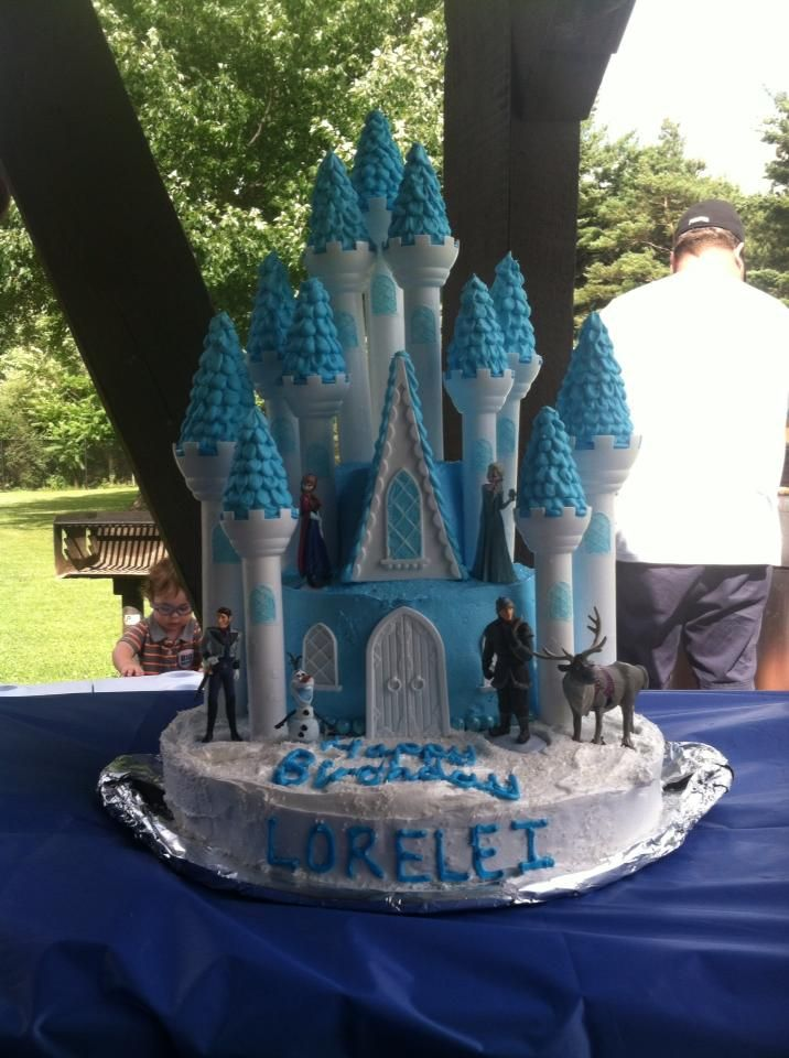 Cool Frozen Castle Cake Using Wilton Castle Cake Kit Com Imagens Funny Birthday Cards Online Barepcheapnameinfo