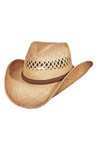 9914e693fab Scala Western Straw Hat available at  Nordstrom  43.00