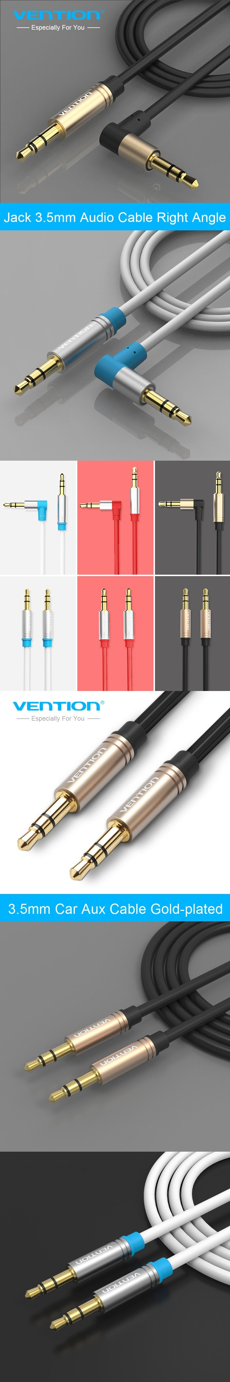 Vention 35mm Jack Audio Cable 90 Degree Right Angle 35 Aux 3 4p 5mm Plug Wiring For Car Headphone