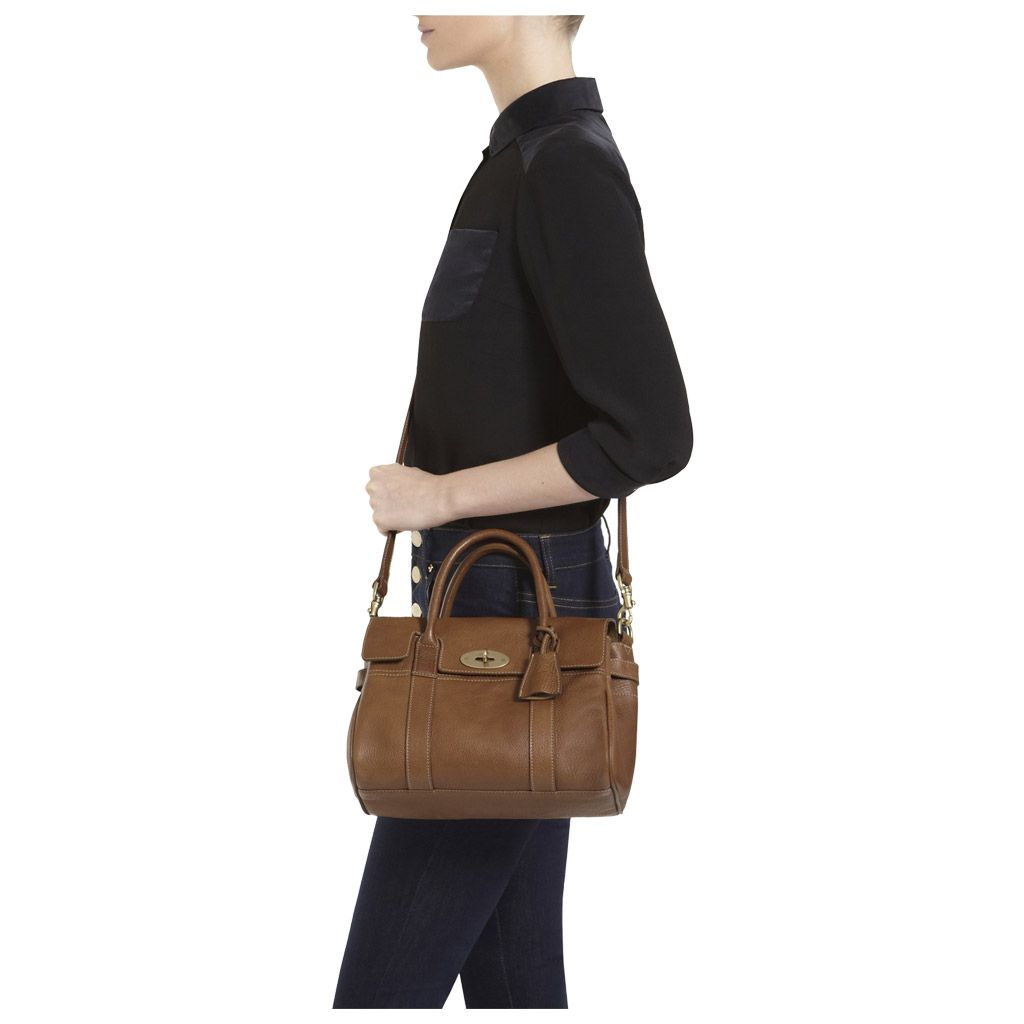 b30a71cb74 Mulberry - Small Bayswater Satchel in Oak Natural Leather