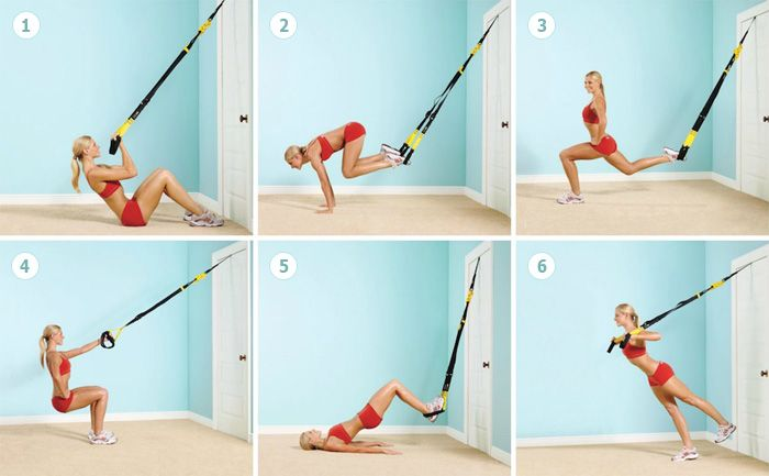 Домашняя тренировка для девушек с тренажером TRX ...