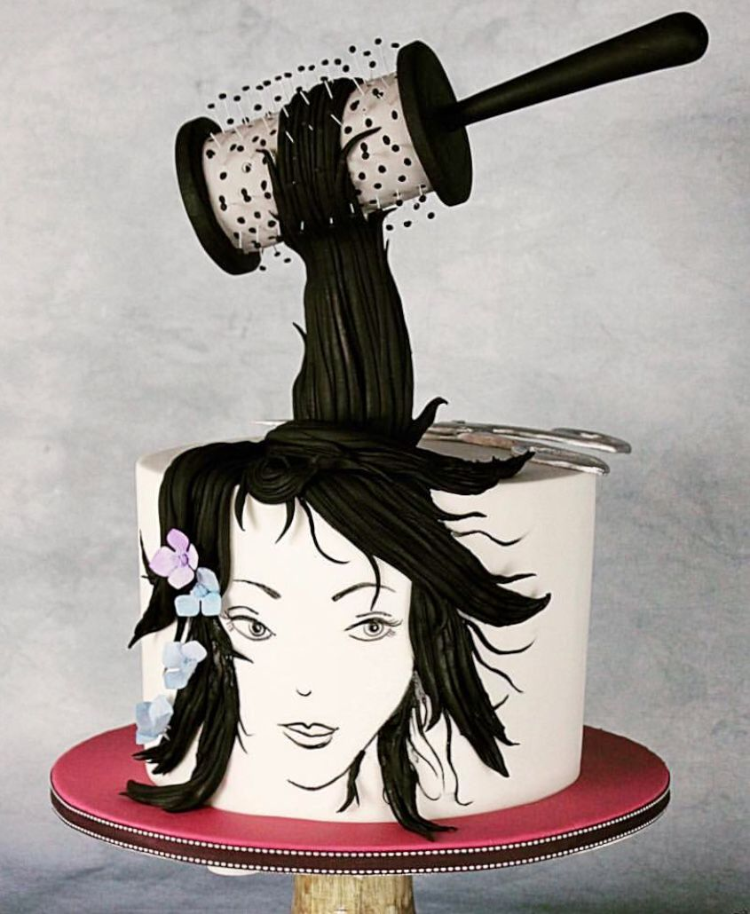 Very cool.....but I dont think I can eat a hair cake....even knowing it is frosting! #gravitycake