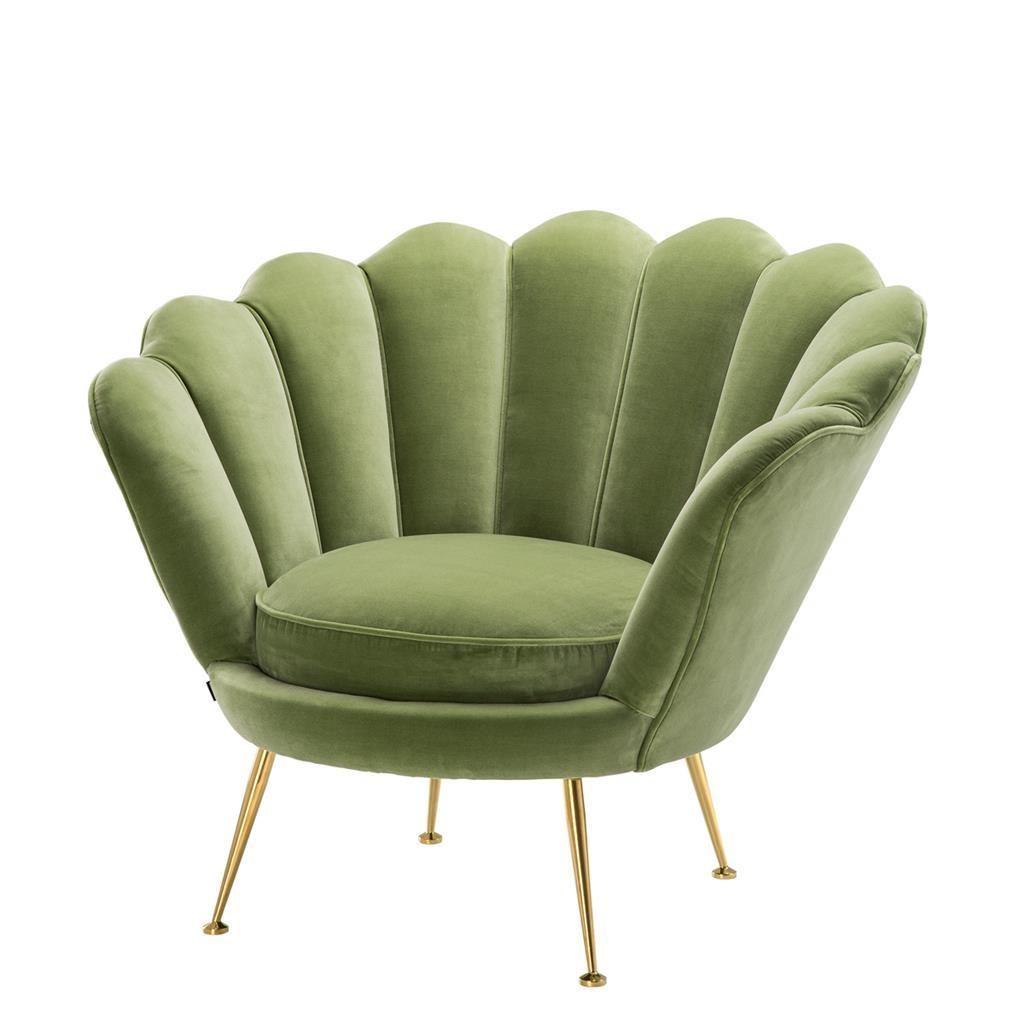 Green Shell Shaped Chair Eichholtz Trapezium Art Chair Green Chair Bucket Chairs