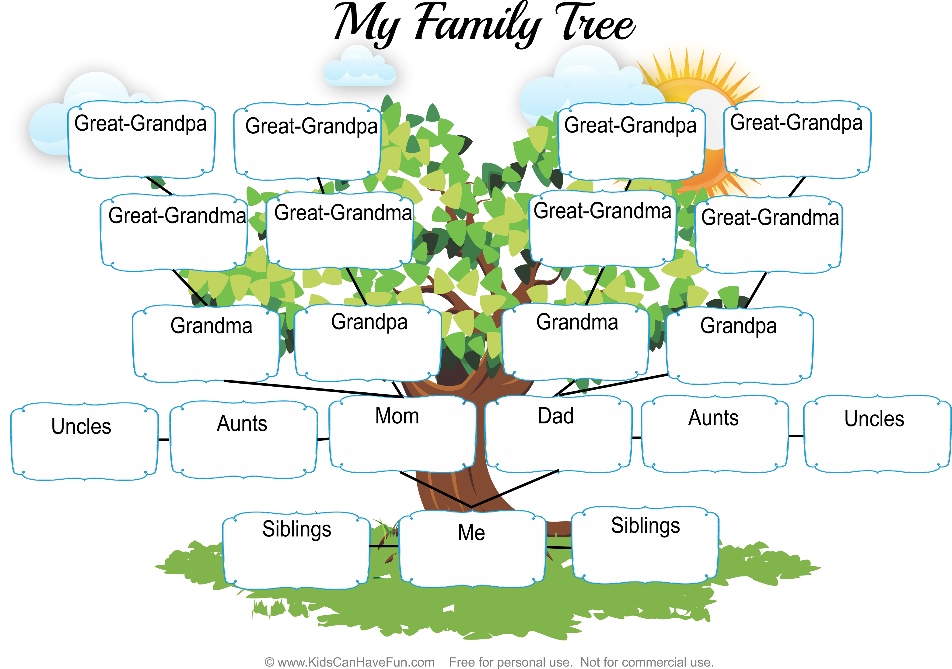 My Family Tree Worksheet1 Kids Fill Out Their Family Members Http