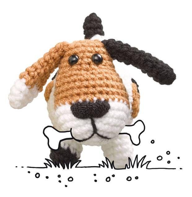 Häkelmuster: Hund häkeln - so geht\'s!   Pinterest   Hund häkeln ...