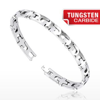 Special Offers Available Click Image Above: Spikes Tungsten Carbide Multi-faceted Link Bracelet