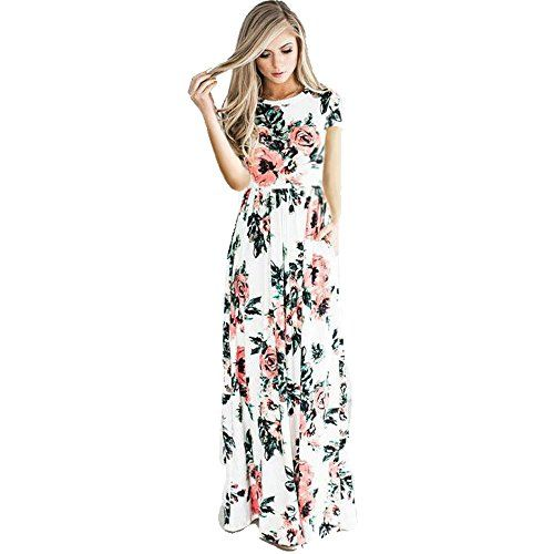 Long Maxi Dresses with Short Sleeves