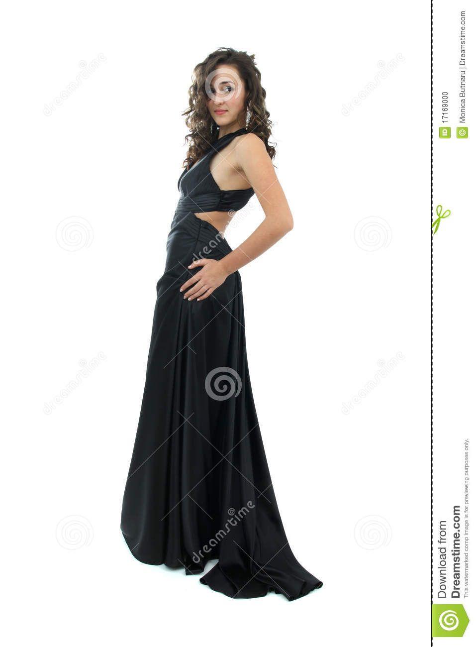 Women in Elegant Gowns | Attractive young woman in elegant black ...