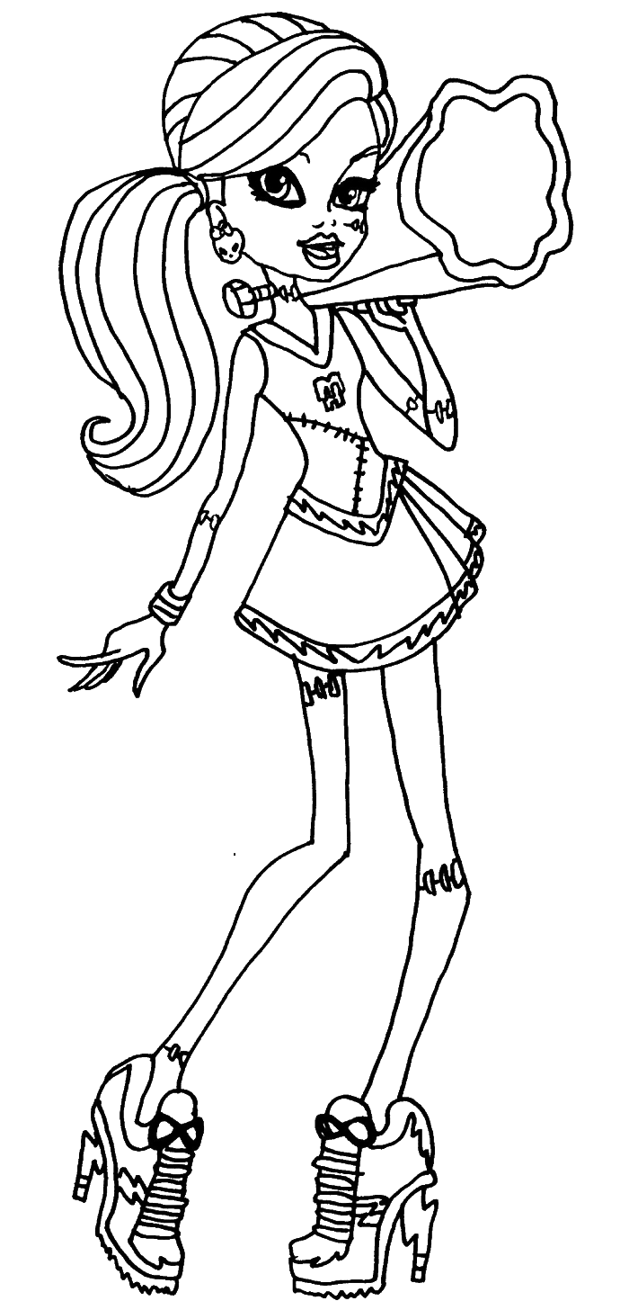 monster high frankie stein activity coloring pages monster high