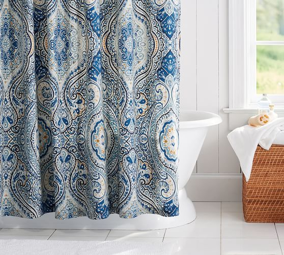 Beale Paisley Shower Curtain Paisley Shower Curtain Fabric