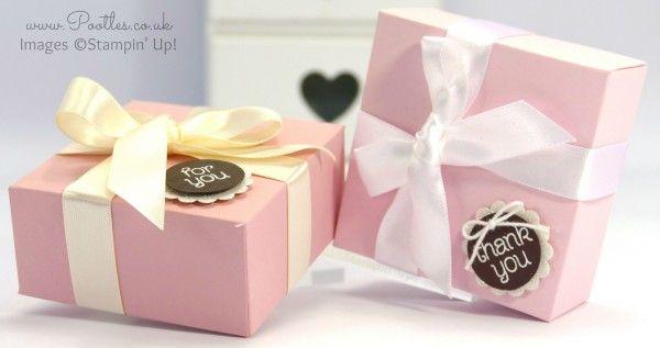 Stampin 'Up!  Royaume-Uni Pootles démonstrateurs - rose élégant et Tutorial Brown Box