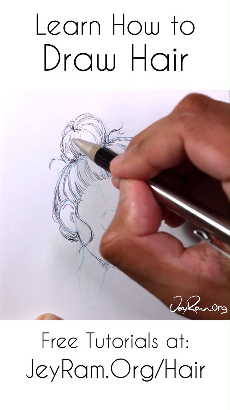 10 hairstyles Bun drawing ideas