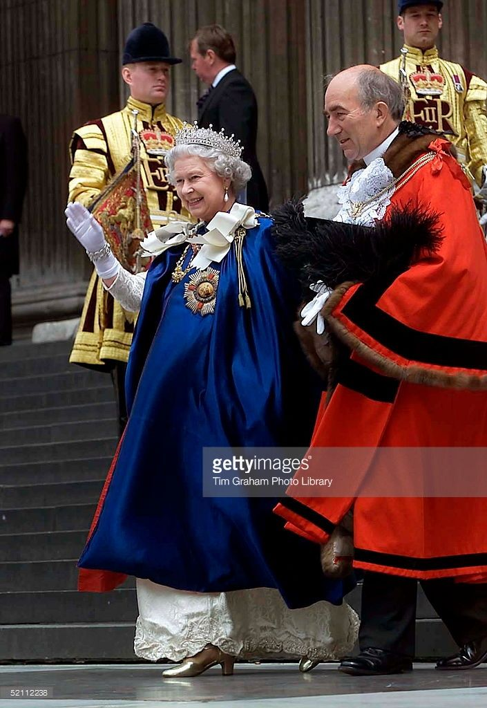 The Queen, As Sovereign Of The Order, Attending The