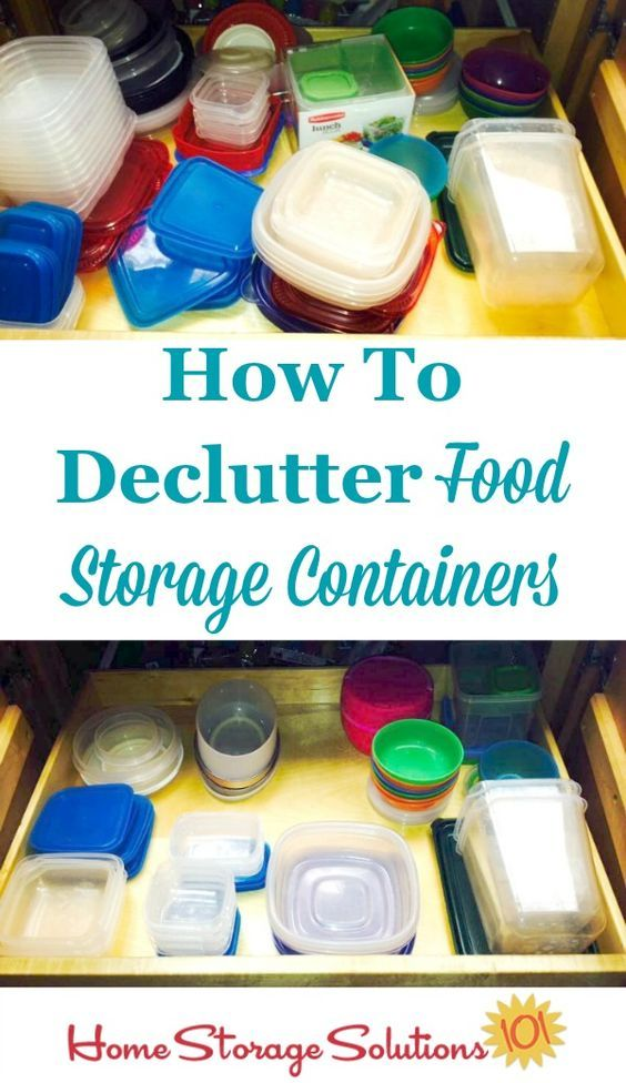 How to declutter your food storage containers including rules of thumb about how many containers to keep and which to get rid of part of the #Declutter365 ...  sc 1 st  Pinterest & Declutter Food Storage Containers 15 Minute Mission | Pinterest ...