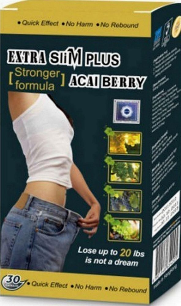 1 Box Diet Pills! Extra Slim Plus Acai Berry Slimming
