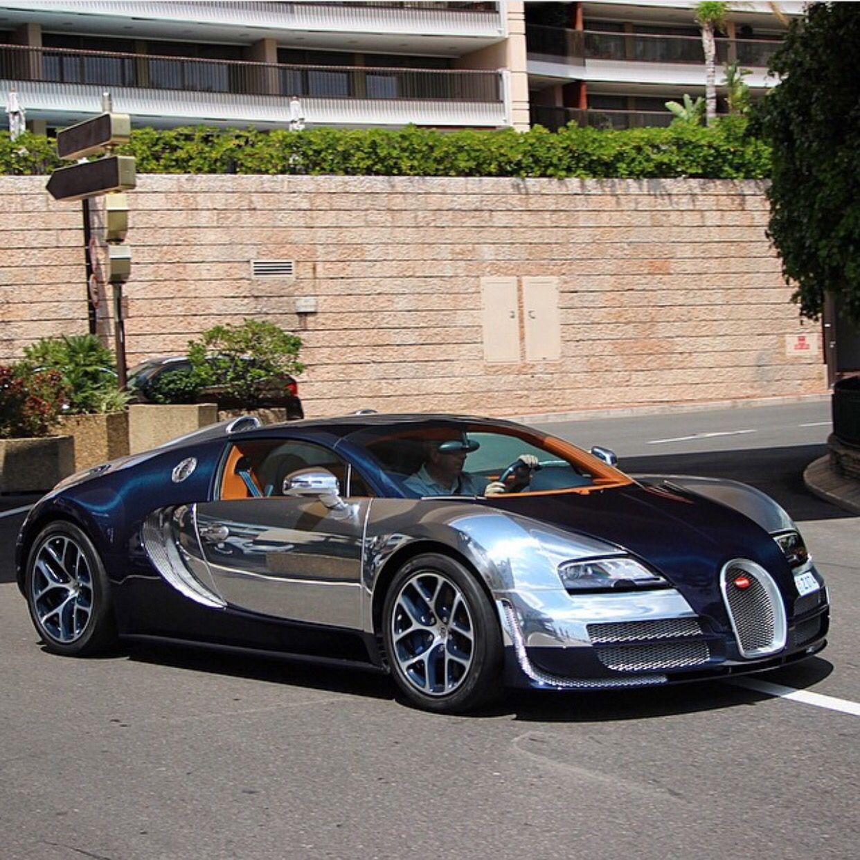 Bugatti Grand Sport Vitesse Painted In Chrome W Navy Blue Carbon