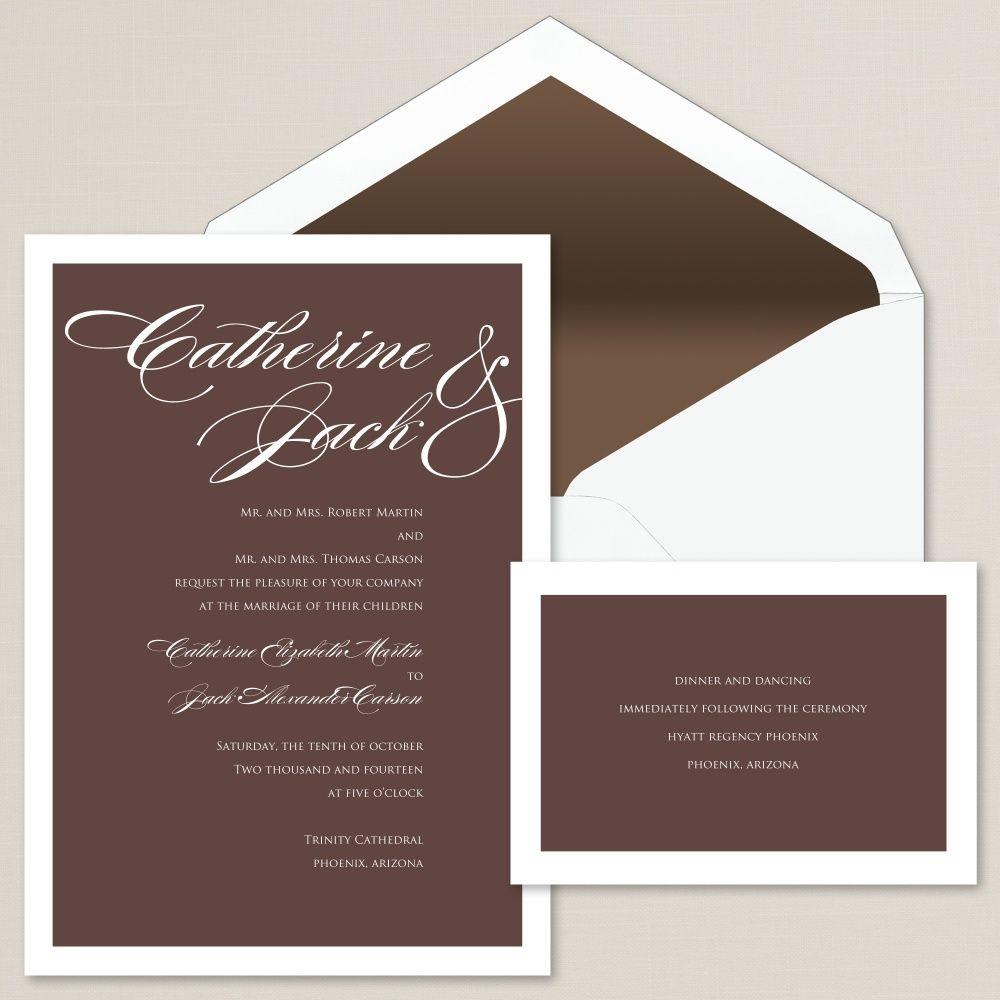 So Into You Wedding Invitation