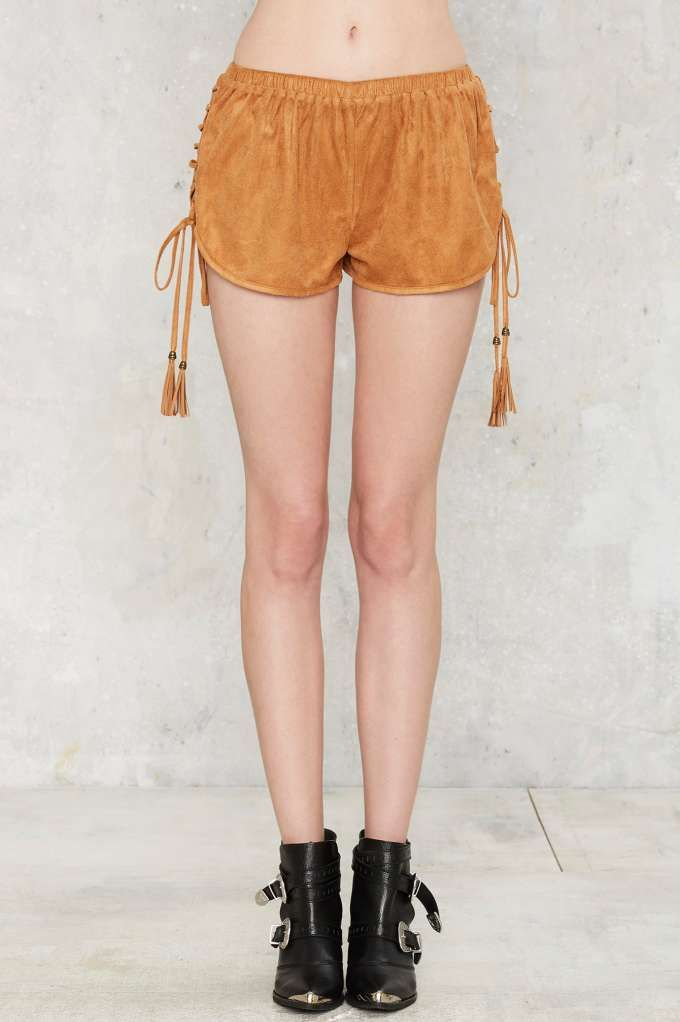 Fest Wishes Lace-Up Shorts - Festival Shop | Casual