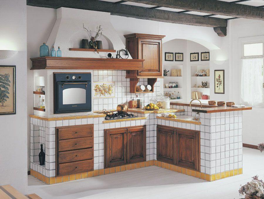 Cucina Muratura Rustica 11 | Кухня-столовая | Pinterest | Tiny ...