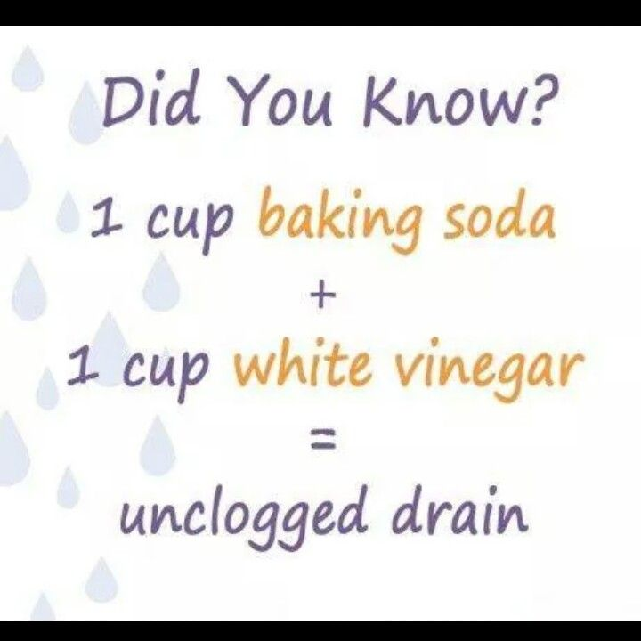 Unclogged drains
