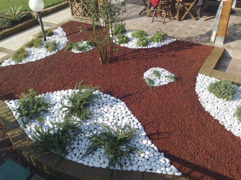 Idee per giardino con ciottoli e ghiaia mekan info con for Aiuole giardino con sassi
