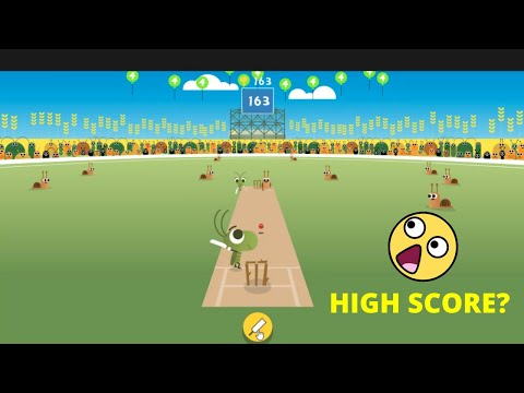 I Scored 163 in Google Doodle Cricket Game What's Your