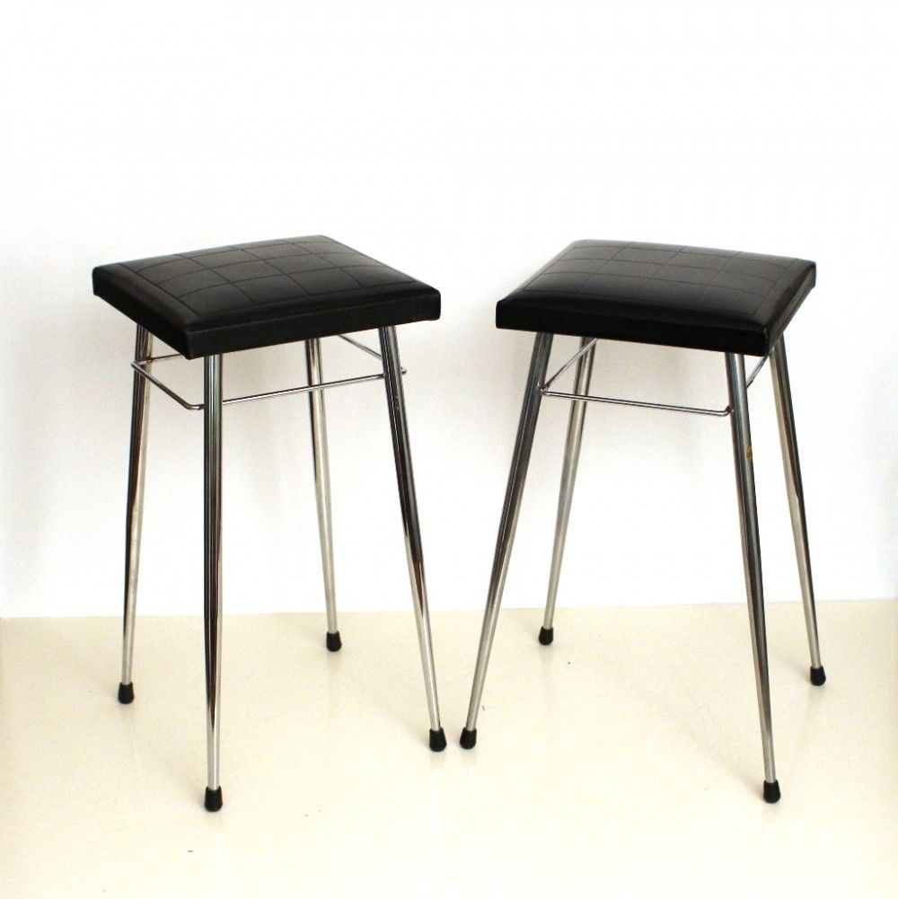 Set of 2 stools from the sixties by unknown designer for Brabantia