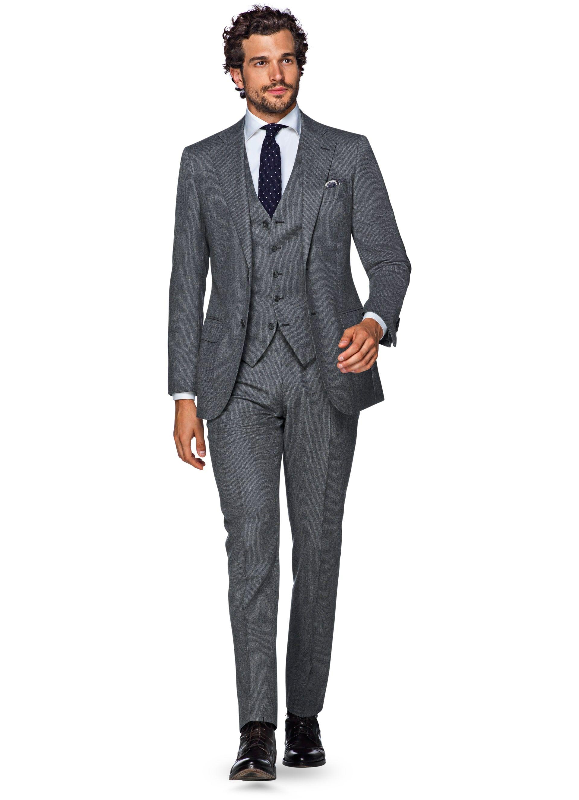 b2bca9ff61 Suit Grey Stripe Lazio P4954i | Suitsupply Online Store | Client: CP ...