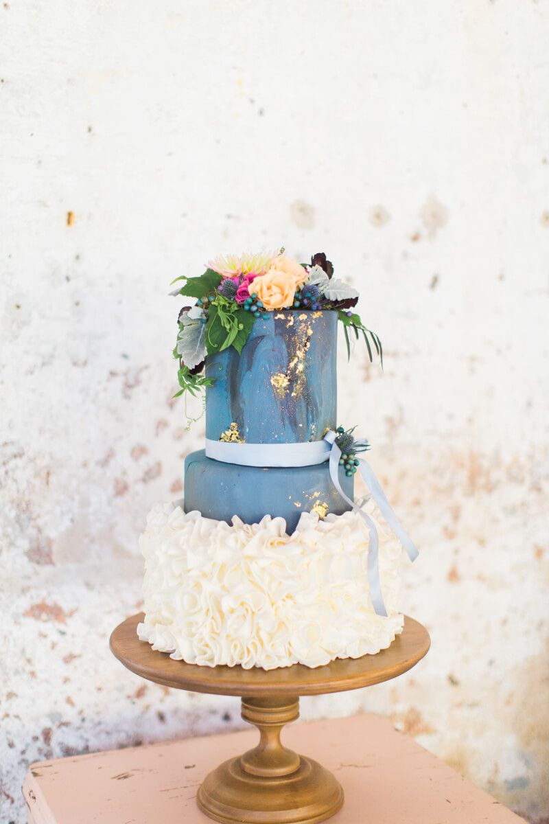 cool wedding cake from Maiden, NC wedding shoot at the Providence ...