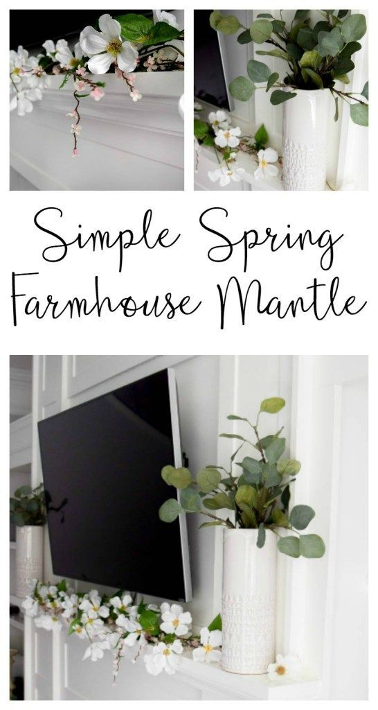 Photo of Simple Spring Farmhouse Mantle