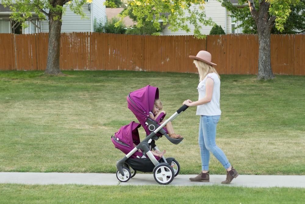 Stokke Crusi as a double stroller via blogger KYRA