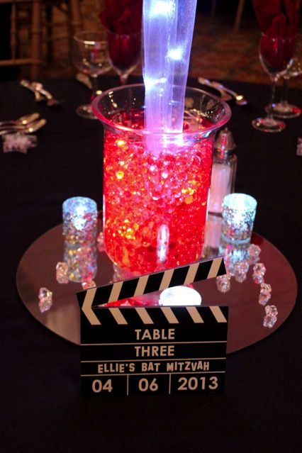 Movie Clapboard Table Sign Centerpiece Perfect For A